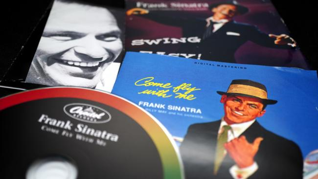 A selection of Frank Sinatra album covers