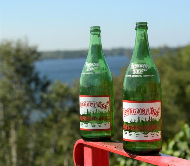 two bottles of Temagami Dry