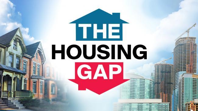 "Logo for ""The Housing Gap"" series"