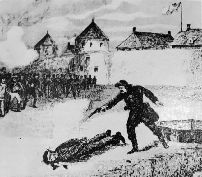 illustration of the execution of Thomas Scott