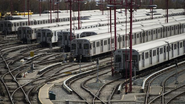 subway cars side by side