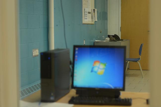 a computer at the Sudbury YMCA