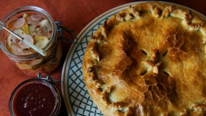 Tourtiere (meat pie).  from the article Why French-Canadians kick off Christmas with an all-night feast