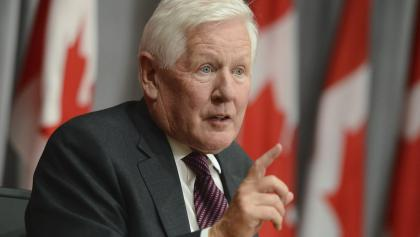 Bob Rae at a press conference from the article Another mission for Ontario's one-time boy wonder