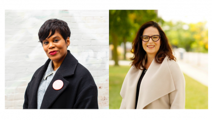 separate photos of two women from the article The Liberals just won two byelections — but they should be nervous