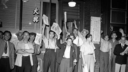 Riots, dances, and parades: How Ontarians marked victory in Japan