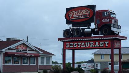 exterior of Gilli's Truck Stop  from the article How the pandemic is making it harder for truckers to make pit stops