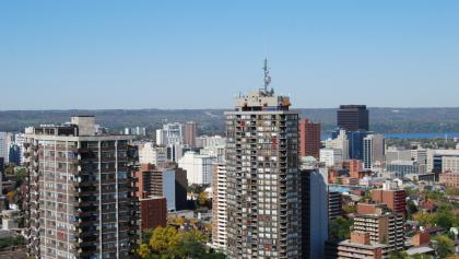Hamilton cityscape from the article Rents are going down in Toronto — so why are they going up in Hamilton?