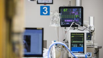machines in an ICU  from the article Case numbers dropped this week. Is that a reason for optimism?