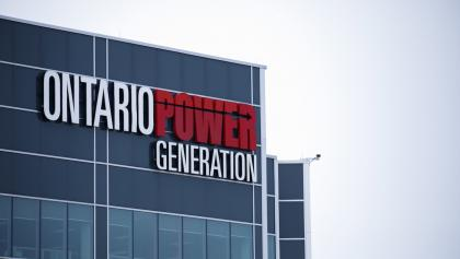 signage on the Darlington Power Complex from the article Ontario Power Generation wants its workers back in the office