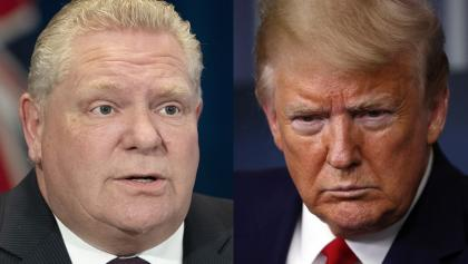 Doug Ford and Donald Trump from the article Ford vs. Trump: A tale of two populists during COVID-19