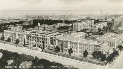 black and white aerial view of an old hospital from the article The rise and fall of lobotomies in Ontario